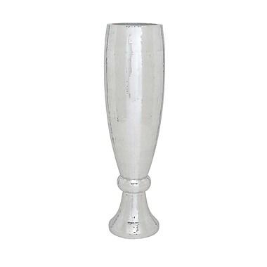 Cole & Grey Polystone Mirror Mosaic Vase; 48'' H x 12'' W x 12'' D