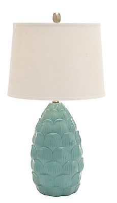 Cole & Grey 28'' Table Lamp (Set of 2); Blue
