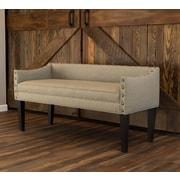 Gracie Oaks Plattsburgh Upholstered Bench; Brooke Pecan