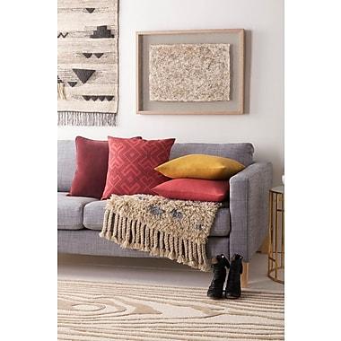 Artistic Weavers Ethiopia Sudan Pillow Cover; Terra Cotta/Burgundy
