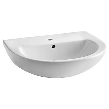 American Standard Evolution 24'' Pedestal Sink w/ Overflow; White