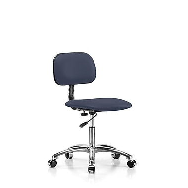 Perch Chairs & Stools Low-Back Desk Chair; Imperial Blue Vinyl