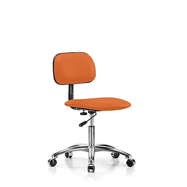Perch Chairs & Stools Low-Back Desk Chair; Orange Kist Vinyl