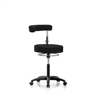 Perch Chairs & Stools Height Adjustable Dental Stool w/ Procedure Arm; Black Vinyl