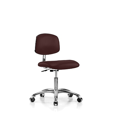 Perch Chairs & Stools Low-Back Desk Chair; Burgundy Vinyl