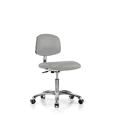 Perch Chairs & Stools Low-Back Desk Chair; Grey Vinyl