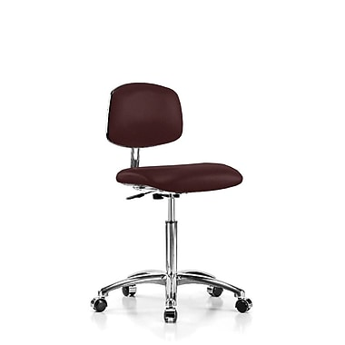 Perch Chairs & Stools Low-Back Desk Chair; Burgundy Fabric