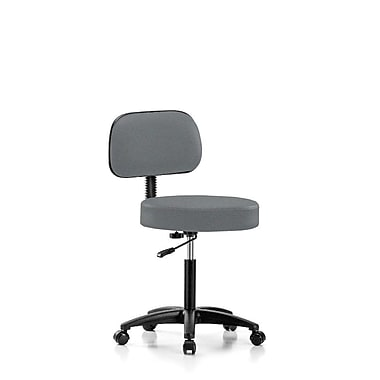 Perch Chairs & Stools Height Adjustable Exam Stool w/ Basic Backrest; Cinder Fabric