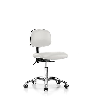 Perch Chairs & Stools Low-Back Desk Chair; Adobe White Vinyl