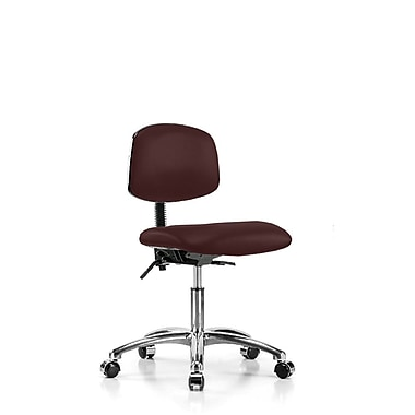 Perch Chairs & Stools Low-Back Desk Chair; Burgundy Vinyl