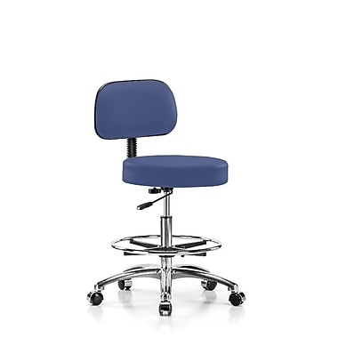 Perch Chairs & Stools Height Adjustable Exam Stool w/ Foot Ring; Newport Fabric