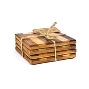 Intrade Global Cabana Wooden Coasters (Set of 4)