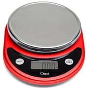 Ozeri Pronto Digital Multifunction Kitchen and Food Scale; Red