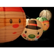 ThePaperLanternStore Christmas Holiday Character Mix Paper Lantern String Light