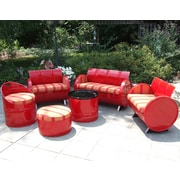 Drum Works Furniture Bravada Salsa Indoor/Outdoor 6 Piece Seating Group w/ Sunbrella Cushion