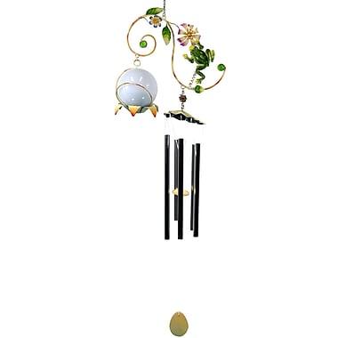 GreatWorldCompany Frog Metal Vine w/ Solar Ball Wind Chime