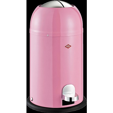 Wesco Kickmaster Junior 3.5 Gallon Step-On Steel Trash Can; Pink