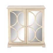 Cole & Grey 2 Door Cabinet; Tan