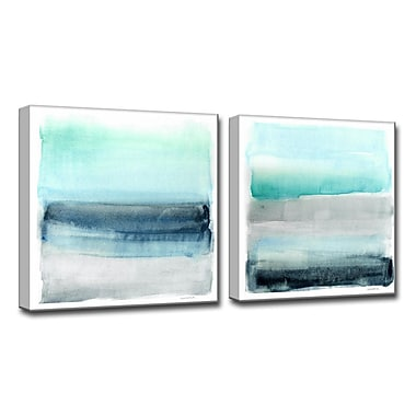 Ready2hangart 'Linear Energy I/II' by Norman Wyatt Jr. 2 Piece Painting Print on Wrapped Canvas Set