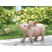 Hi-Line Gift Ltd. Walking Pig w/ Wings Statue