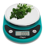 Ozeri Pronto Digital Multifunction Kitchen and Food Scale; Teal Blue