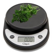 Ozeri Pronto Digital Multifunction Kitchen and Food Scale; Silver on Black
