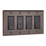 Richelieu Decora Four Switch Plate; Brushed Oil Rubbed Bronze