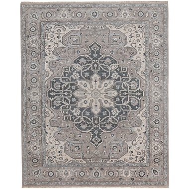 Capel Biltmore Hand-Knotted Beige/Gray Area Rug; 8'6'' x 11'6''
