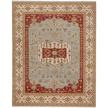 Capel Biltmore Hand-Knotted Gray/Cream Area Rug; 7'6'' x 9'6''