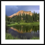 Mountain Reflected in Pond, San Juan Mountains, Colorado by Tim Fitzharris Framed Photographic Print