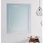 BrandtWorksLLC Modern American Chrome Wall Mirror; 41'' H x 32'' W