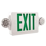 Lithonia Lighting Quantum Emergency Exit Light; Green