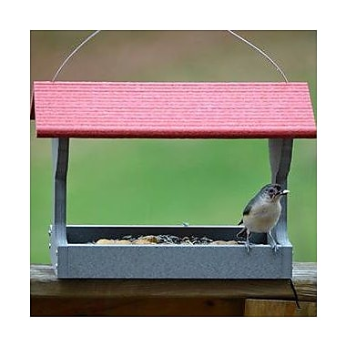 Birds Choice Solutions Recycled Hopper Bird Feeder; Red