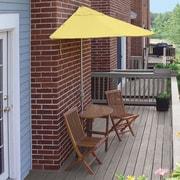 Blue Star Group Terrace Mates Bistro Economy 5 Piece Dining Set; Yellow Sunbrella