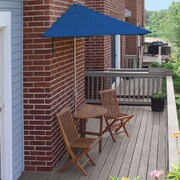 Blue Star Group Terrace Mates Bistro Economy 5 Piece Dining Set; Blue Sunbrella