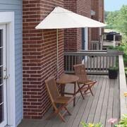 Blue Star Group Terrace Mates Bistro Economy 5 Piece Dining Set; Natural Sunbrella