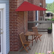 Blue Star Group Terrace Mates Bistro Economy 5 Piece Dining Set; Red Sunbrella