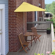 Blue Star Group Terrace Mates Bistro Premium 5 Piece Dining Set; Yellow Sunbrella