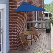 Blue Star Group Terrace Mates Villa Economy 5 Piece Dining Set; Blue Olefin