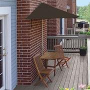 Blue Star Group Terrace Mates Villa Economy 5 Piece Dining Set; Chocolate Olefin