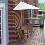 Blue Star Group Terrace Mates Villa Economy 5 Piece Dining Set; Natural Olefin