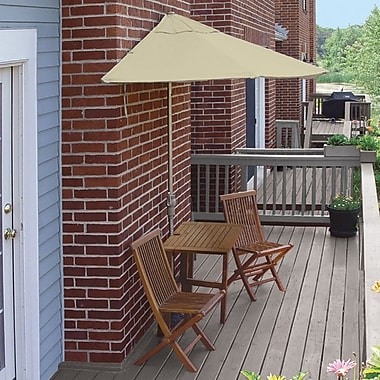 Blue Star Group Terrace Mates Villa Standard 5 Piece Dining Set; Antique Beige Olefin