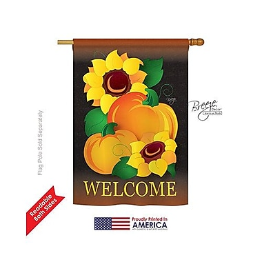 TwoGroupFlagCo Welcome Pumpkin 2-Sided Vertical Flag
