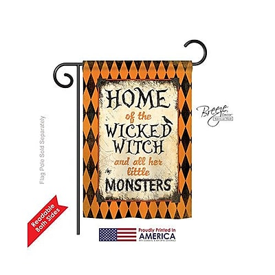 Breeze Decor Wicked Home 2-Sided Vertical Flag; 40'' H x 28'' W
