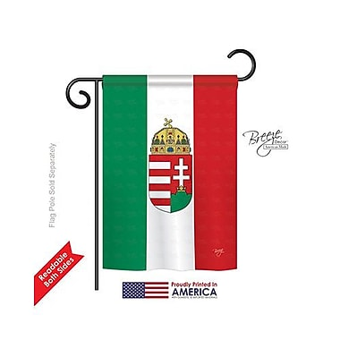 TwoGroupFlagCo Hungary 2-Sided Vertical Flag; 40'' H x 28'' W