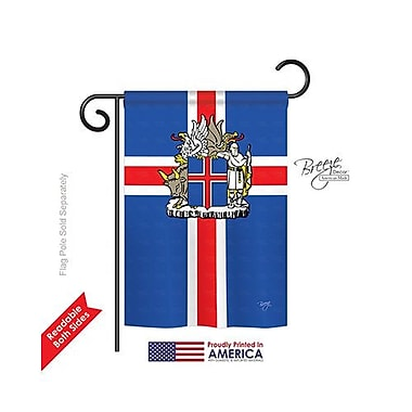 TwoGroupFlagCo Iceland 2-Sided Vertical Flag; 40'' H x 28'' W