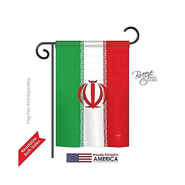 TwoGroupFlagCo Iran 2-Sided Vertical Flag; 40'' H x 28'' W