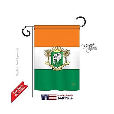 TwoGroupFlagCo Ivory Coast 2-Sided Vertical Flag; 40'' H x 28'' W