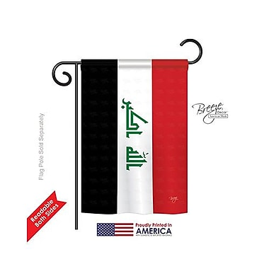 TwoGroupFlagCo Iraq 2-Sided Vertical Flag; 40'' H x 28'' W