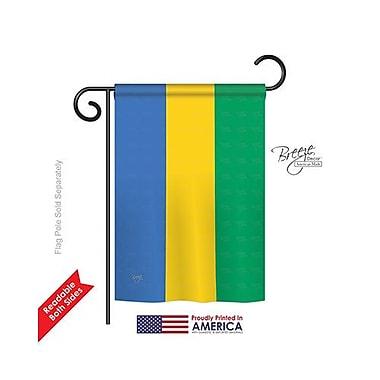 TwoGroupFlagCo Gabon 2-Sided Vertical Flag; 18.5'' H x 13'' W